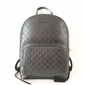 Gucci Guccissima Signature Logo Leather Backpack